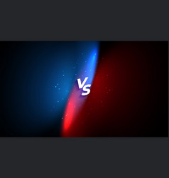 Versus vs banner design with blue and red light vector
