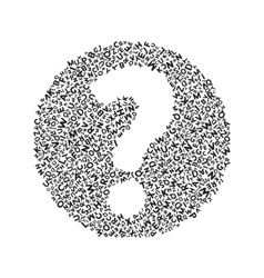 White Question mark vector image