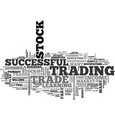 why learn to trade stocks text word cloud concept vector image