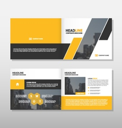 Yellow black annual report leaflet brochure flyer vector