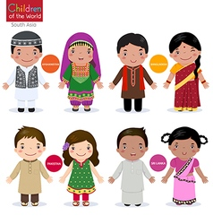 Children of the world Afghanistan Bangladesh vector image vector image