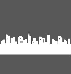 city silhouette with windows vector image vector image