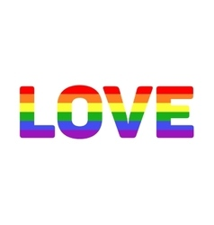 Gay lgbt rainbow love word vector