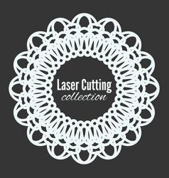 laser flower star cut the template frame vector image