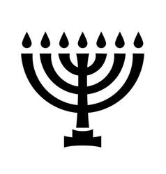 menorah ancient hebrew sacred seven-candleholder vector image