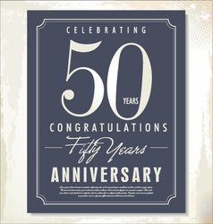 50 years anniversary background vector image vector image
