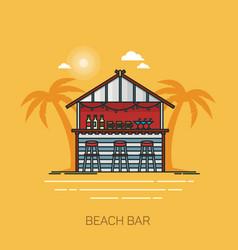bar at sea beach or hut for alcohol at seashore vector image