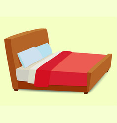 bed icon interior home rest sleep furniture vector image