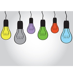 Bulb background vector image