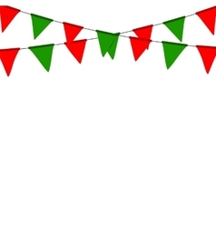 Christmas bunting flag isolated on white vector