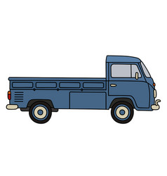 classic small truck vector image vector image