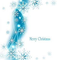 holiday christmas background with snowflakes vector image