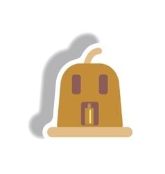 paper sticker Halloween icon vector image vector image