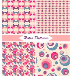 Vintage Retro Patterns vector image vector image