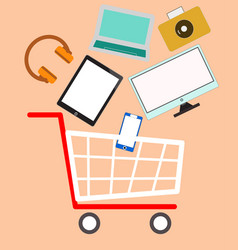 cart color device vector image