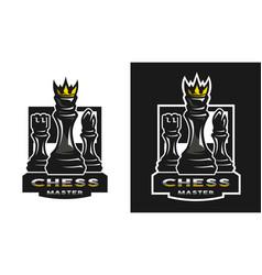 chess game emblem logo vector image vector image
