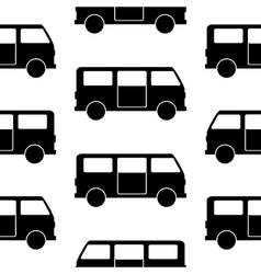 Minibus symbol seamless pattern vector