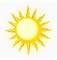 Sun symbol isolated on white vector image