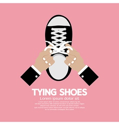 Tying Shoes vector image