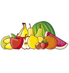 a group of fruits vector image vector image