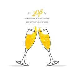 Glasses of champagne vector image vector image