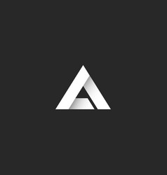 triangle logo gradient white stripe style sharp vector image