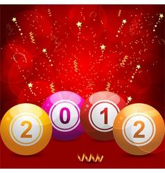 2012 bingo lottery vector image