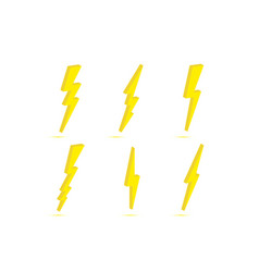 3d thunder and bolt lightning flash icon isolated vector image
