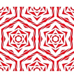 Abstract Red Flower Pattern vector image