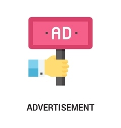 advertisement icon concept vector image
