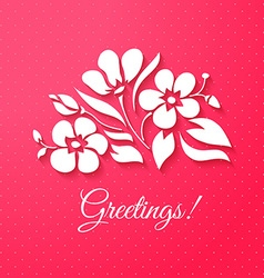 Applique card or background with flowers vector