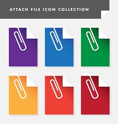 Attach file icon set collection for web vector