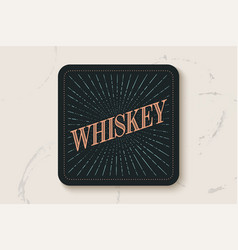 beverage coaster for glass with inscription vector image