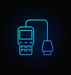 Blue car diagnostic scanner icon vector