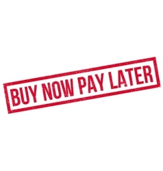 Buy Now Pay Later rubber stamp vector image