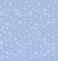 christmas snowflakes net texture seamless pattern vector image