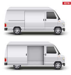 Classic service van minibus vector