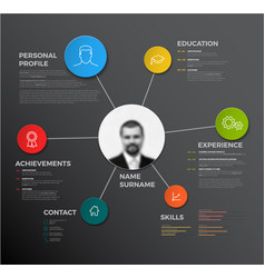 Creative cv resume template vector