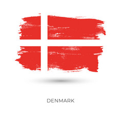 denmark colorful brush strokes painted national vector image