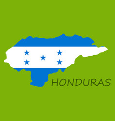 detailed of a map of honduras with flag eps10 vector image