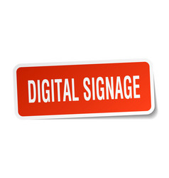 Digital signage square sticker on white vector