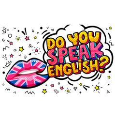 Do you speak english word bubble vector