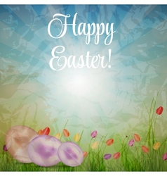 Easter eggs card with colourful eggs vector