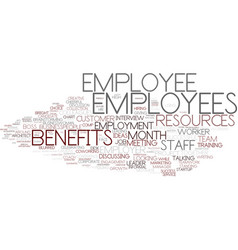Employees word cloud concept vector