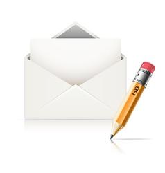 envelope end pencil vector image vector image