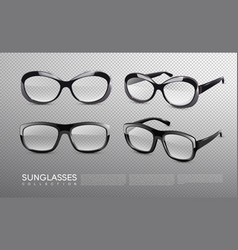 Fashionable sunglasses collection vector