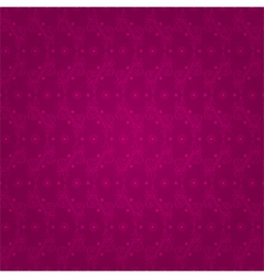 Floral seamless pattern on a pink background vector image