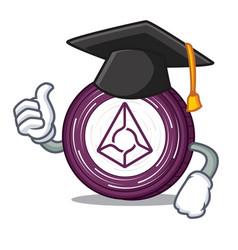 graduation augur coin character cartoon vector image