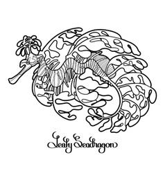 Graphic leafy seadragon vector