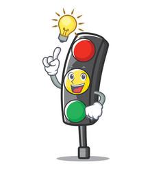 have an idea traffic light character cartoon vector image